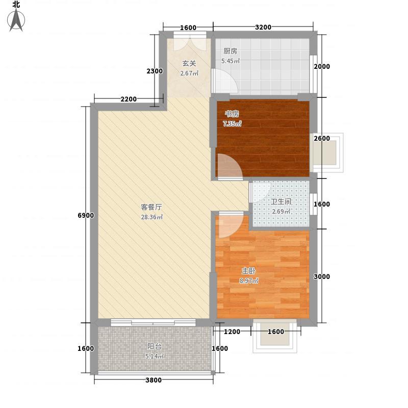 惠丰城68.00㎡户型2室