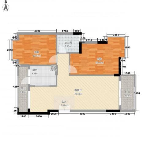 熊猫碧富新城2室1厅1卫1厨108.00㎡户型图
