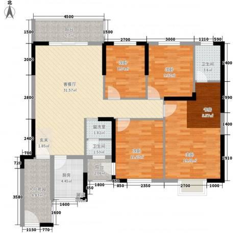汇星豪庭4室2厅2卫1厨150.00㎡户型图