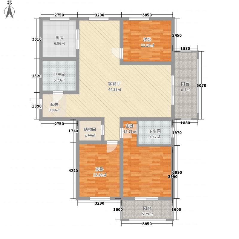 丰沃・悦湖城166.00㎡9#10#C户型3室2厅2卫1厨