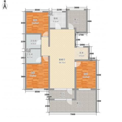 大运河孔雀城温莎郡3室1厅2卫1厨166.00㎡户型图