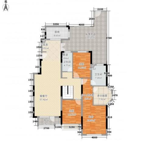 藏珑16203室1厅2卫1厨172.00㎡户型图