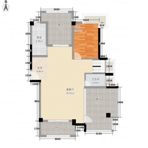 联发欣悦园1室1厅1卫1厨133.00㎡户型图