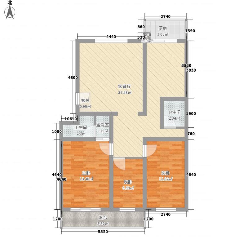 丰硕苑120.70㎡丰硕苑户型图3室2厅2卫户型10室