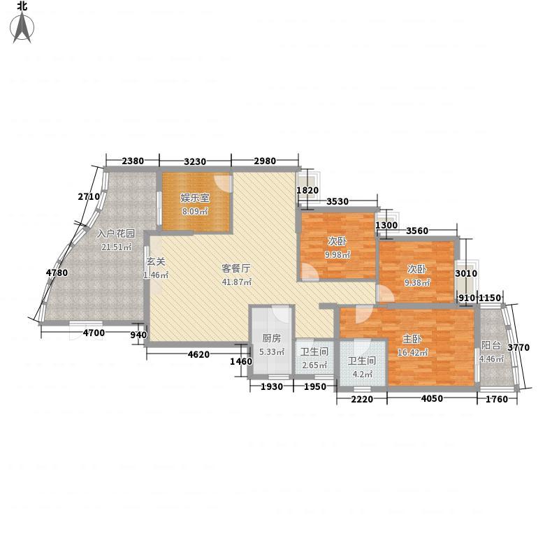 辉映江山173.35㎡2#E户型4室2厅2卫1厨