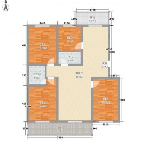 丰硕苑4室1厅2卫1厨158.00㎡户型图