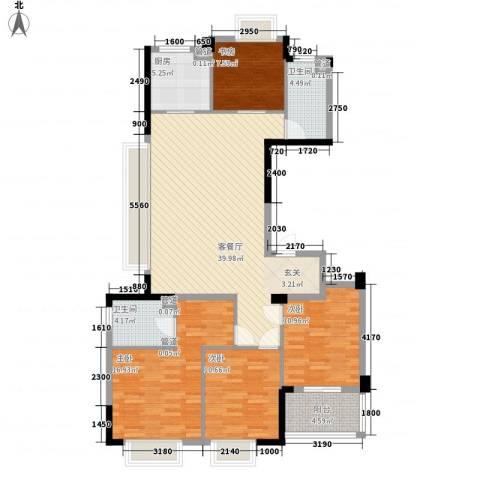罗蒙环球城4室1厅2卫1厨148.00㎡户型图