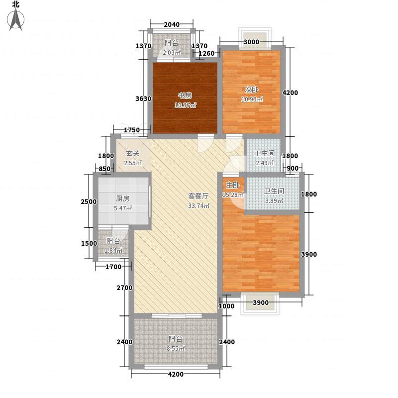 洛卡小城105.83㎡洛卡小城户型图户型3室2厅2卫1厨户型3室2厅2卫1厨