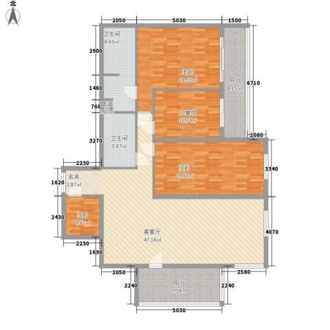 锦绣园4室1厅2卫0厨186.00㎡户型图