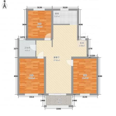 香泉岭花苑3室1厅1卫0厨116.00㎡户型图