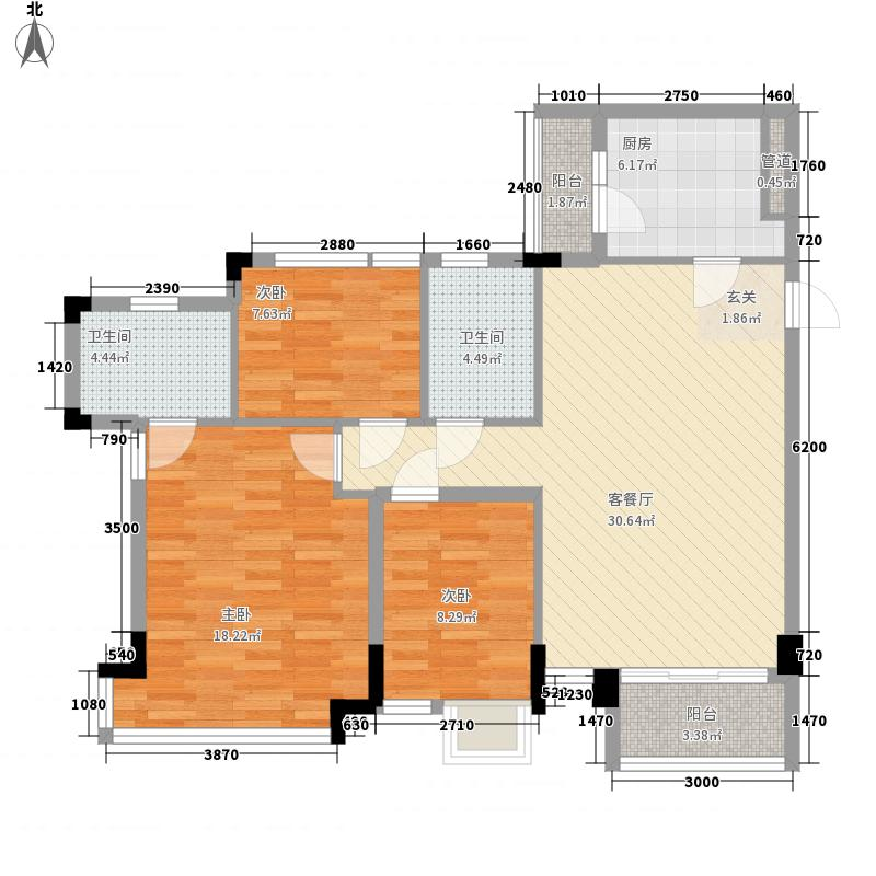 帝雍园121.00㎡帝雍园4室户型4室