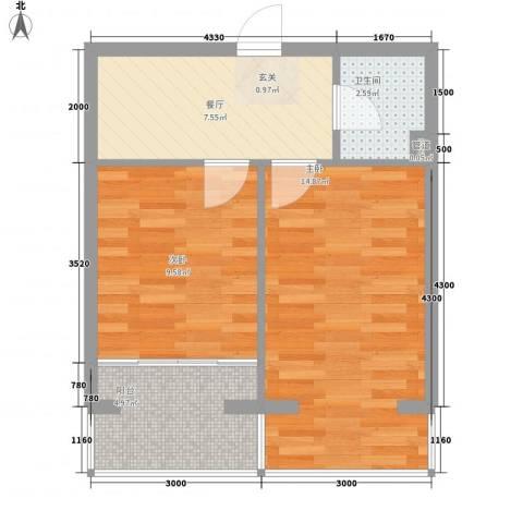 美印雅苑2室1厅1卫0厨39.61㎡户型图