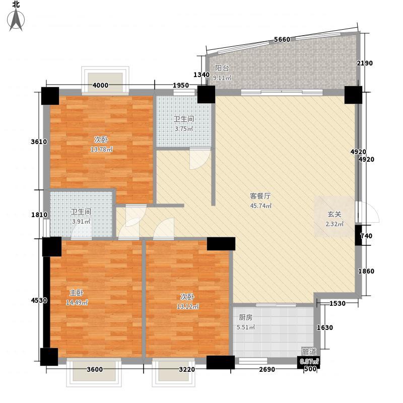 嘉盛豪园二期3居室户型
