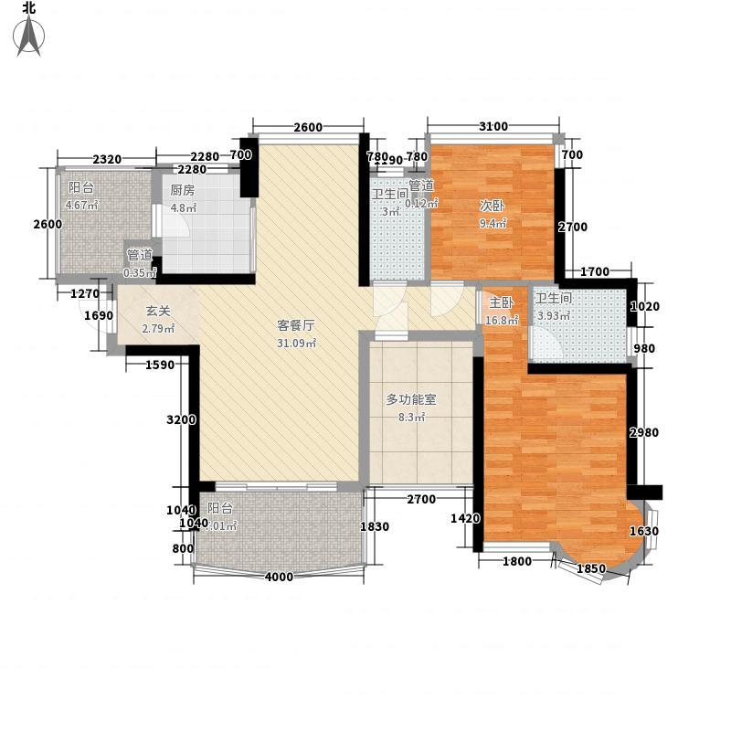 开平骏景湾豪庭11.54㎡一期9幢02户型3室2厅2卫1厨