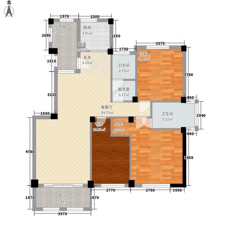 海天云桥137.00㎡6-13#楼东首A户型3室2厅2卫1厨