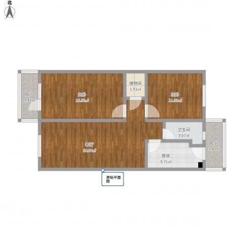 宁乐西里6-2-3012室1厅1卫1厨99.00㎡户型图