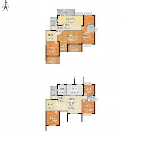 天韵雅苑5室1厅4卫1厨361.00㎡户型图