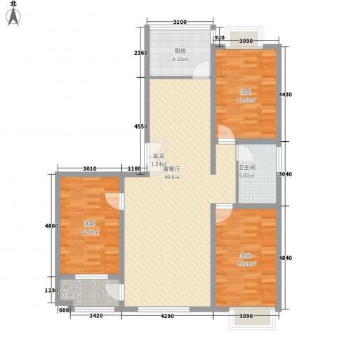 联运家园3室1厅1卫1厨133.00㎡户型图