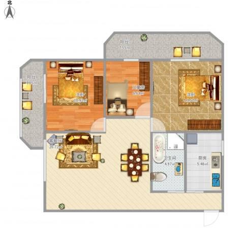 三秀涵雅居3室1厅1卫1厨109.00㎡户型图