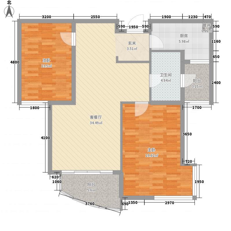 鸿运润园C区户型3室
