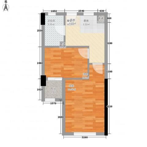 蜀新苑2室1厅1卫0厨34.82㎡户型图