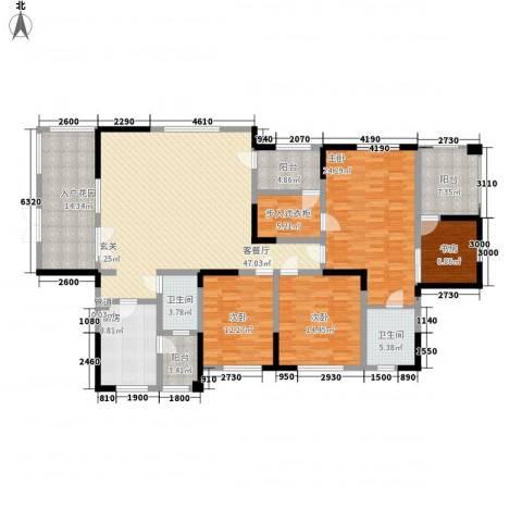 神仙树大院(高新)4室1厅2卫1厨186.00㎡户型图