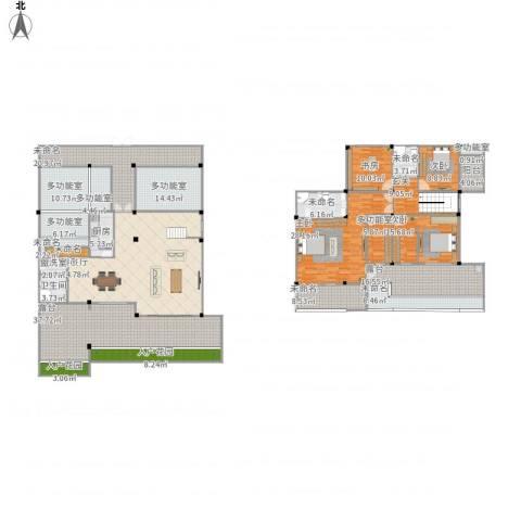 山水华庭4室2厅1卫1厨409.00㎡户型图