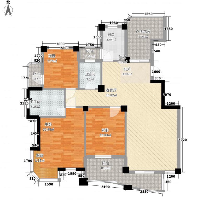 四季桂花园147.00㎡三期丹桂苑-F户型3室2厅2卫1厨