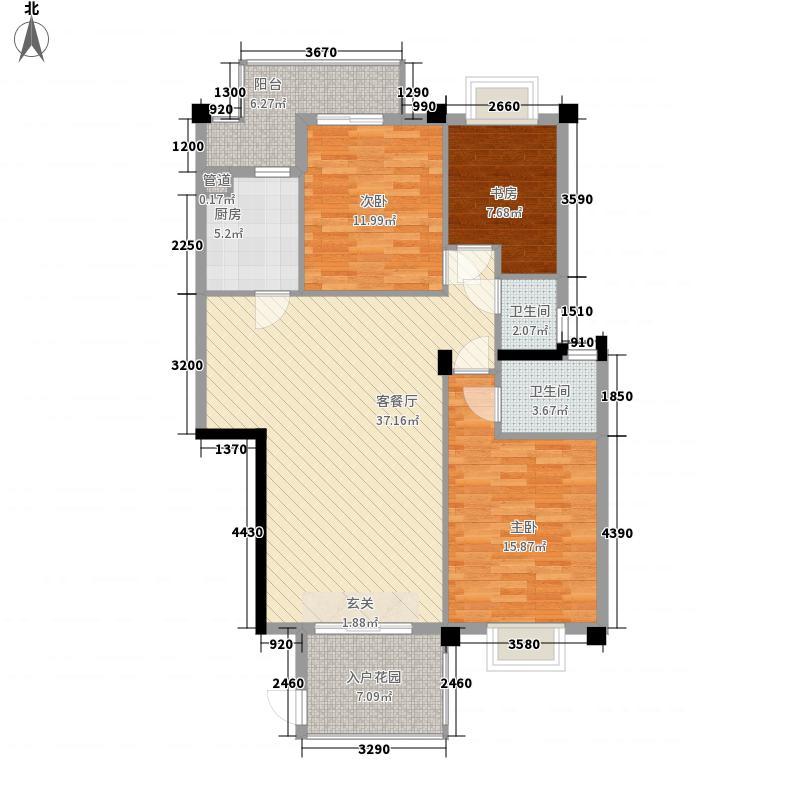青雅园2户型3室2厅2卫1厨