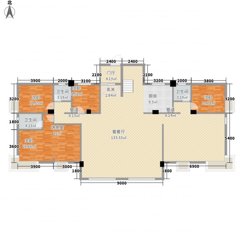 福东苑441.80㎡2号楼G1一层户型