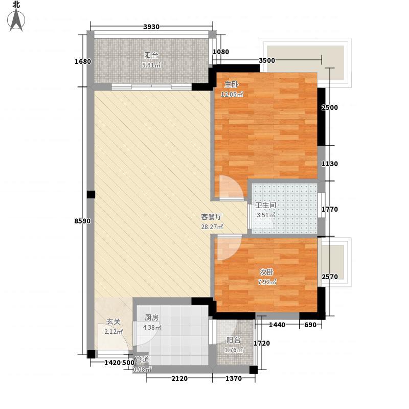 莲花E区15.00㎡户型3室