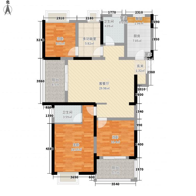 凤凰文化广场141.87㎡1号楼、3号楼A户型