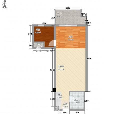 远能锦座1室1厅1卫0厨61.00㎡户型图