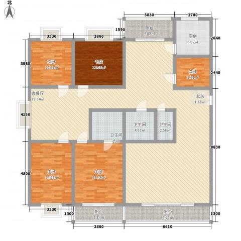御公馆5室1厅3卫1厨246.00㎡户型图