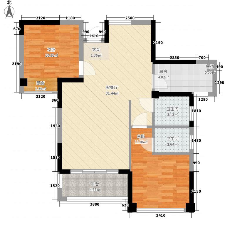 梧侣村2-2-2-1-1户型2室2厅2卫1厨