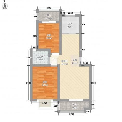 新庄新村2室1厅1卫1厨68.00㎡户型图