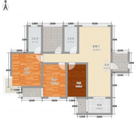 厦门罐头厂宿舍3室1厅2卫1厨142.00㎡户型图