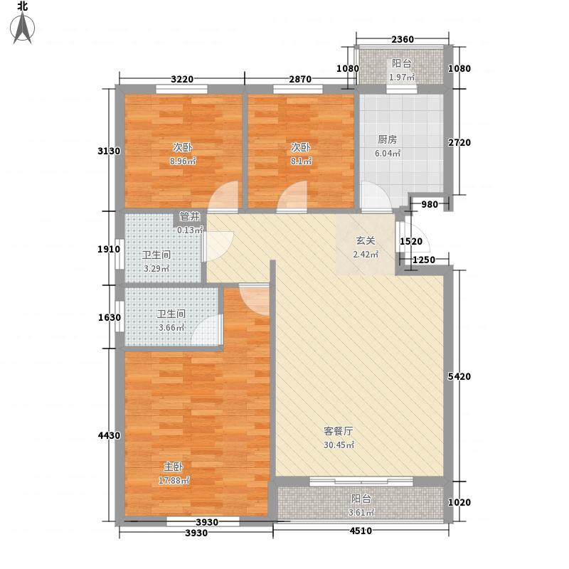 大鹏怡和华庭 3室 户型图