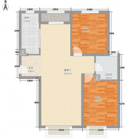 嘉农商贸城2室1厅1卫1厨73.31㎡户型图