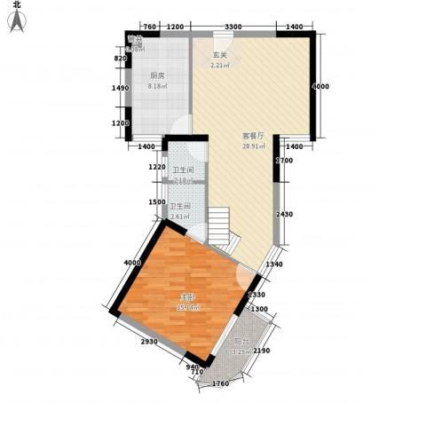 嘉农商贸城1室1厅2卫1厨85.00㎡户型图