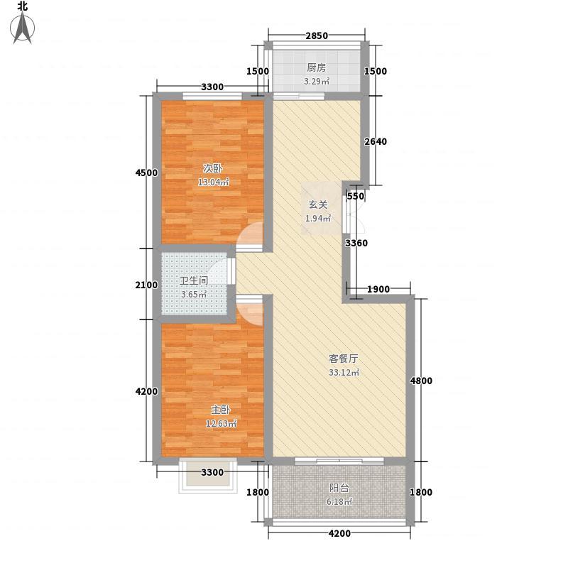 中铁四局建筑公司宿舍户型2室