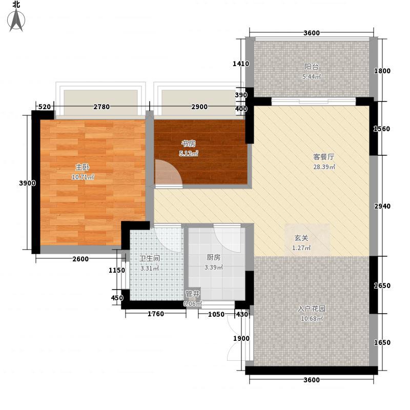 东城商贸花园118.00㎡东城商贸花园3室户型3室