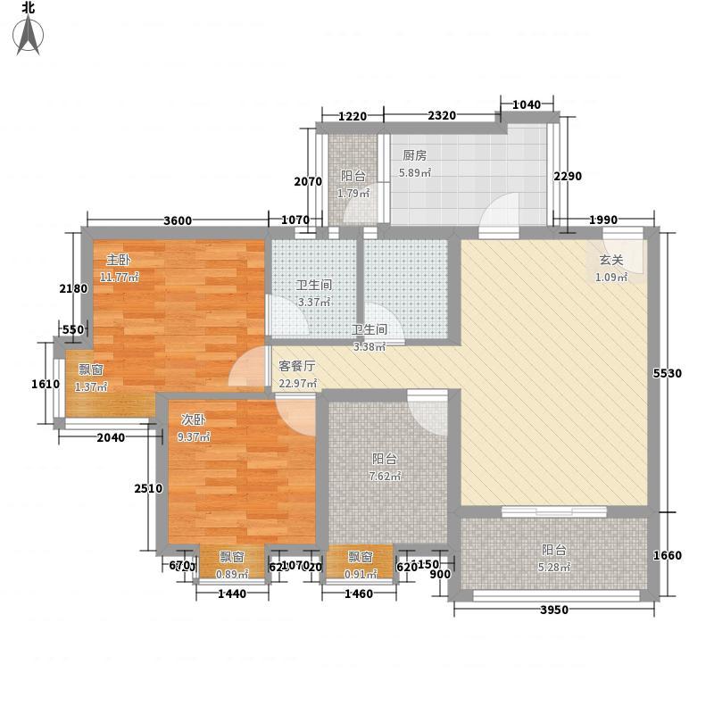 丹阳・长安街13.64㎡C户型3室2厅2卫1厨