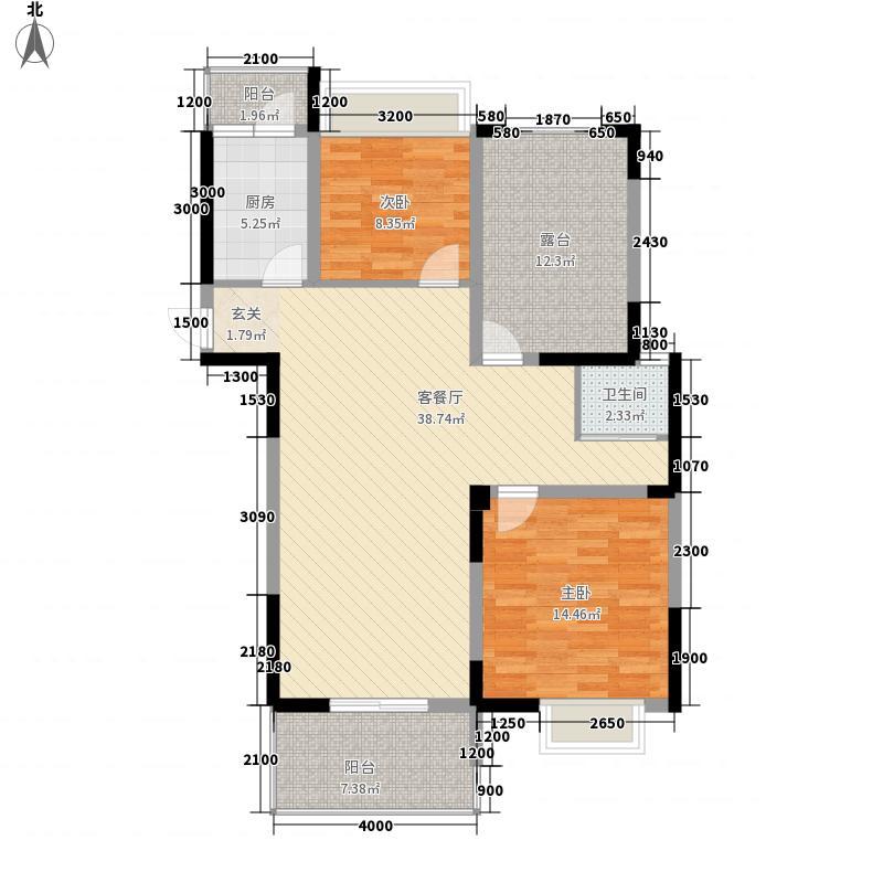 中铁四局建筑公司宿舍11户型2室2厅1卫1厨