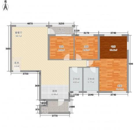 茂业豪园3室1厅2卫0厨119.20㎡户型图