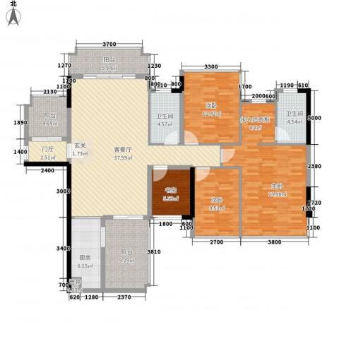 盛天公馆4室1厅2卫1厨178.00㎡户型图