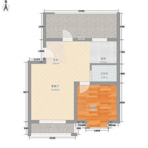 海韵苑1室1厅1卫0厨65.00㎡户型图