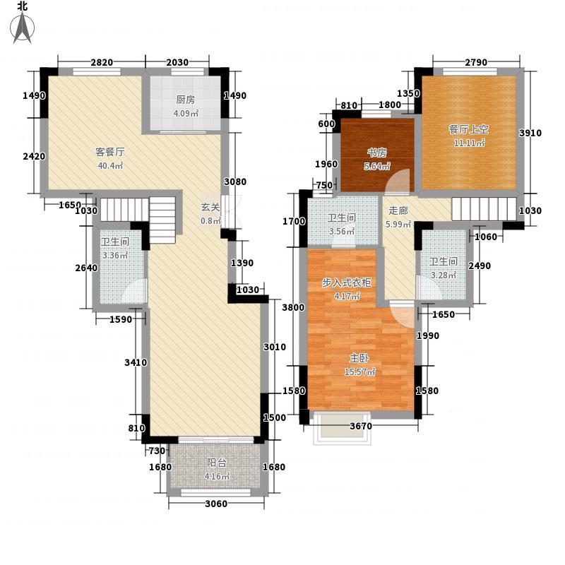 融侨城125.00㎡洋房G5户型2室2厅3卫1厨