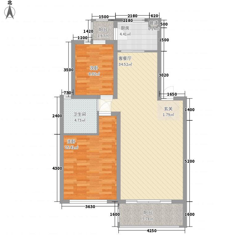盛光小区gw_hx1户型2室2厅1卫1厨