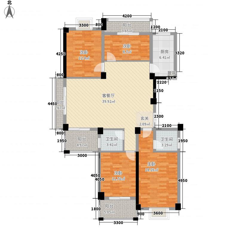 三迪香颂枫丹户型图2#F户型 3室2厅2卫1厨